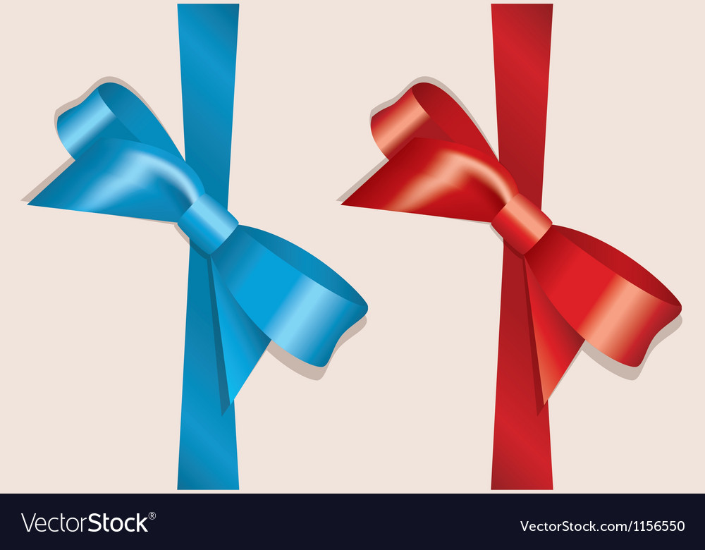Bow and ribbon vector | Price: 1 Credit (USD $1)