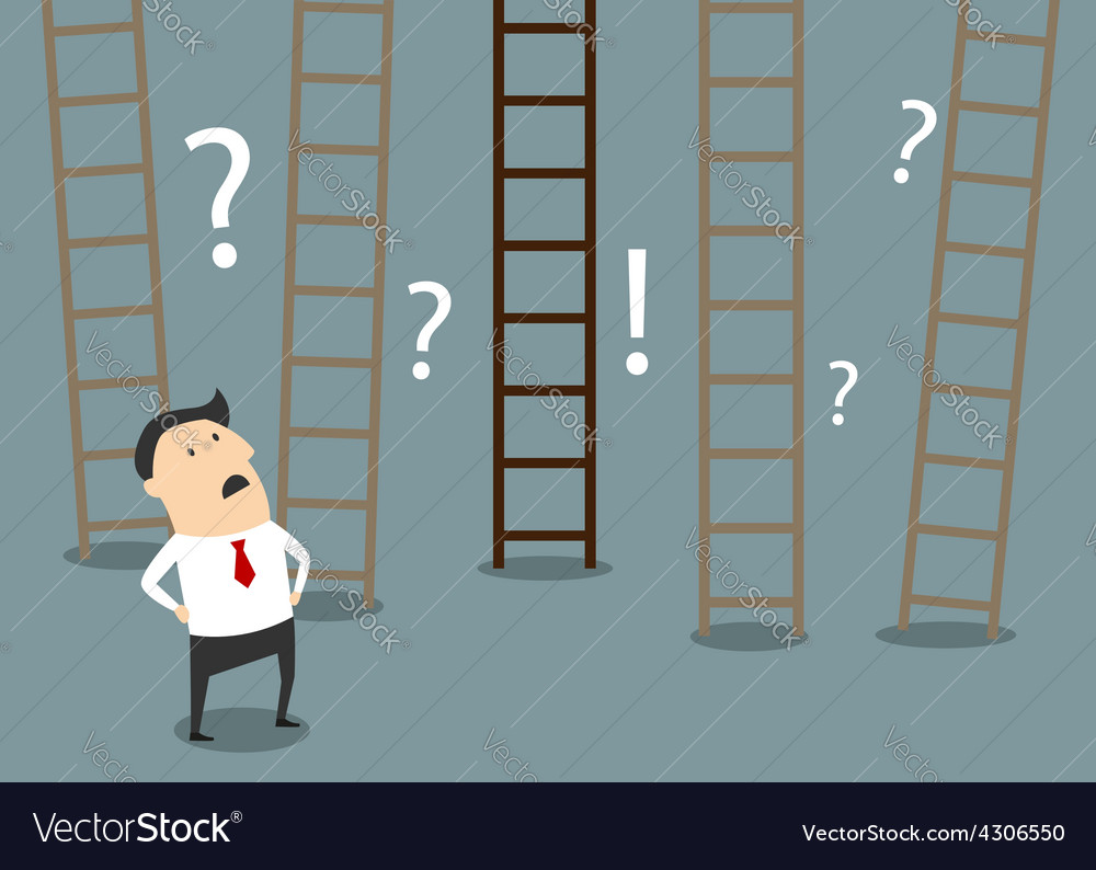 Businessman choosing ladder to success vector | Price: 1 Credit (USD $1)