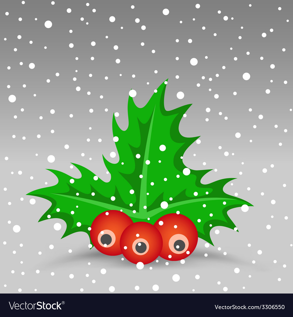 Christmas berry vector | Price: 1 Credit (USD $1)