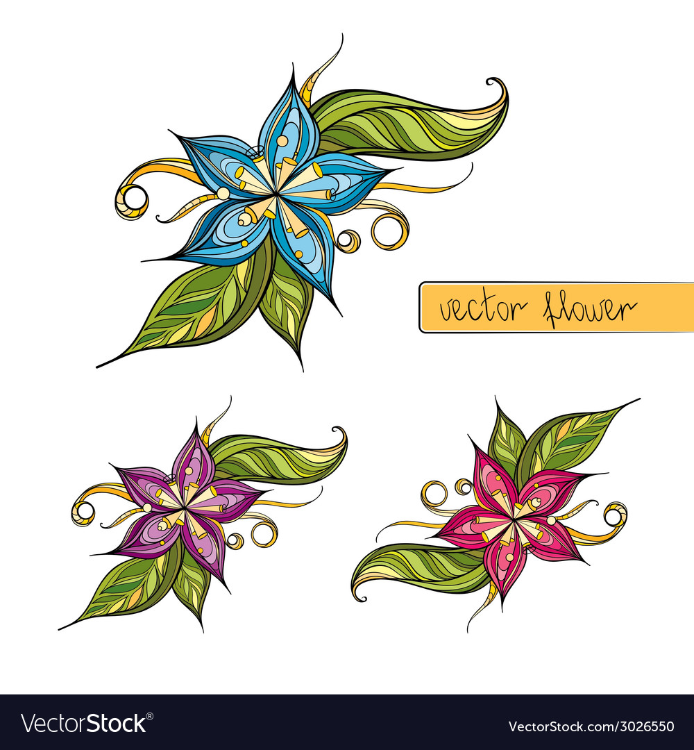 Colorful stylized flower for decoration vector | Price: 1 Credit (USD $1)