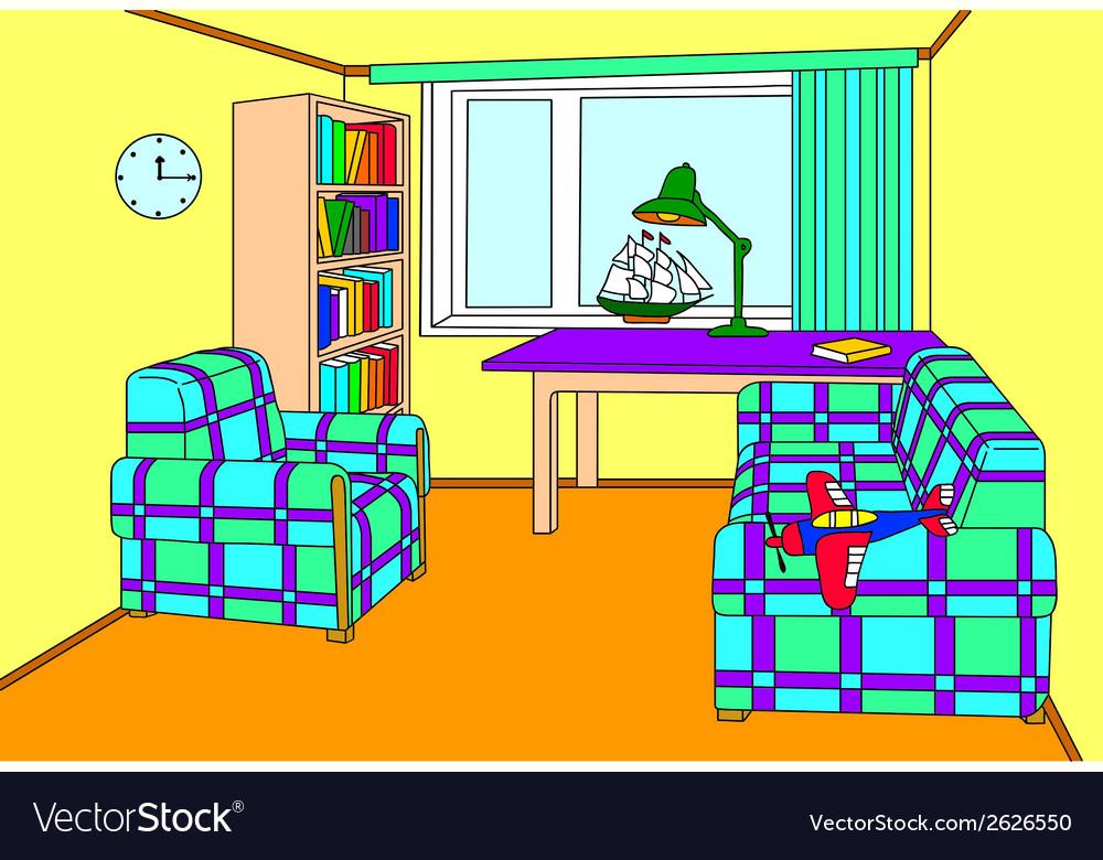 Cosy room for a boy vector | Price: 1 Credit (USD $1)