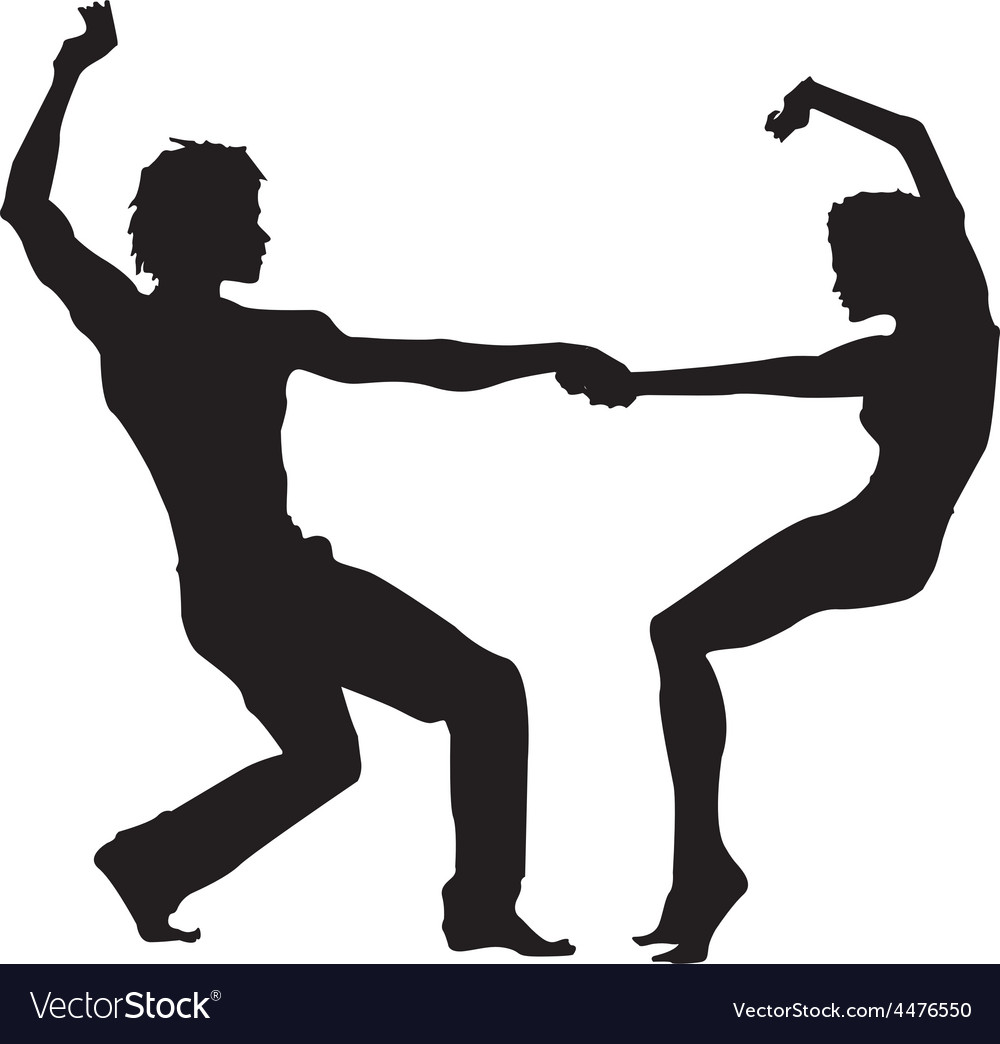 Dancing silhouette vector | Price: 1 Credit (USD $1)