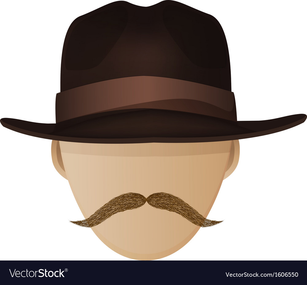 Hipster hat and moustache vector | Price: 1 Credit (USD $1)