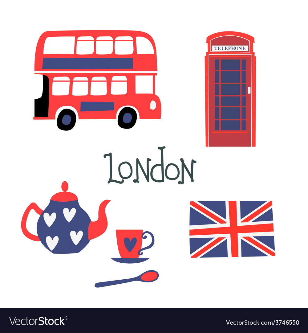 London style symbols vector | Price: 1 Credit (USD $1)