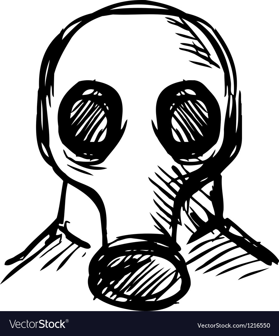 Man in a respirator vector | Price: 1 Credit (USD $1)