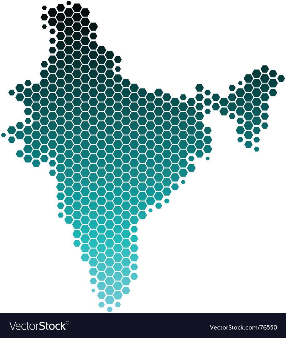 Map of india vector | Price: 1 Credit (USD $1)