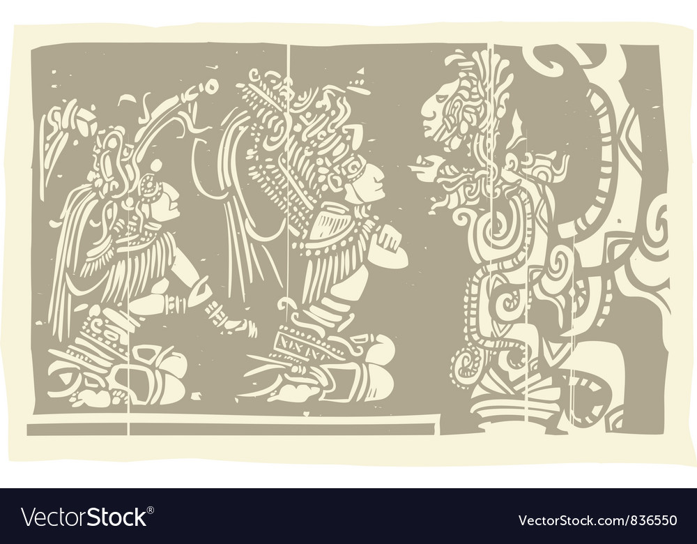 Mayan carvings vector | Price: 1 Credit (USD $1)