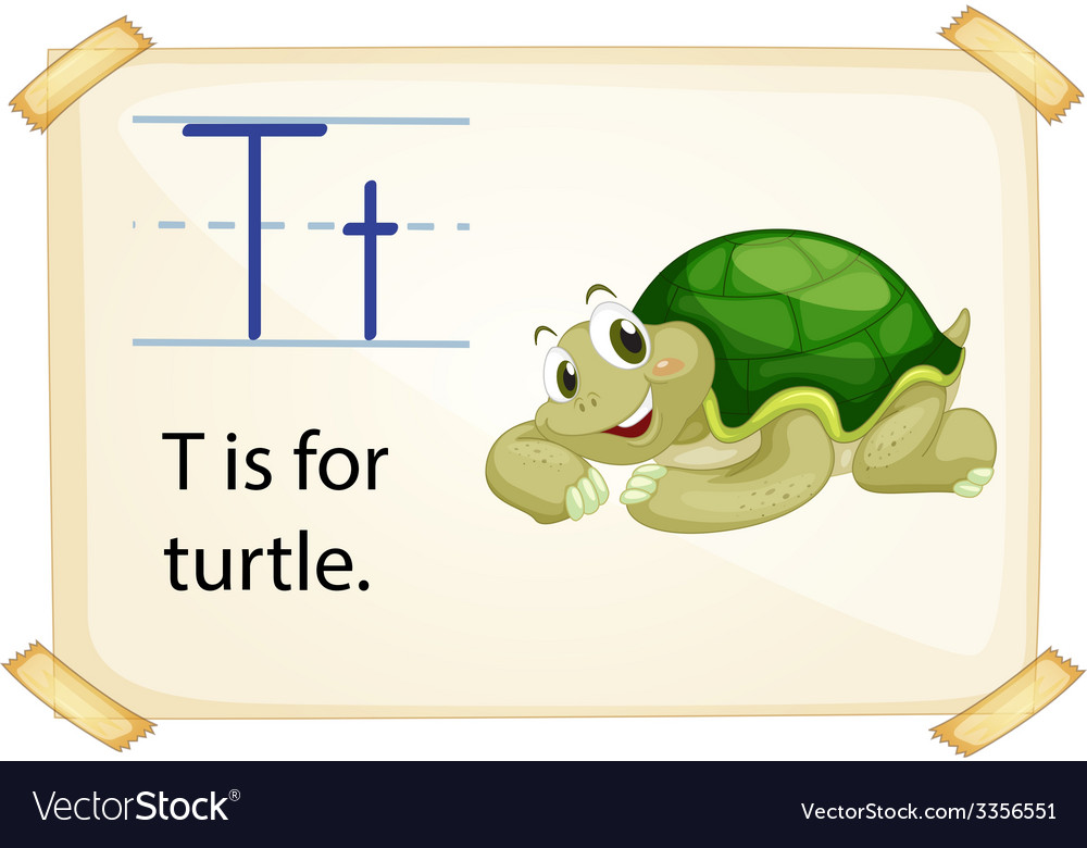 A letter t for turtle vector | Price: 3 Credit (USD $3)