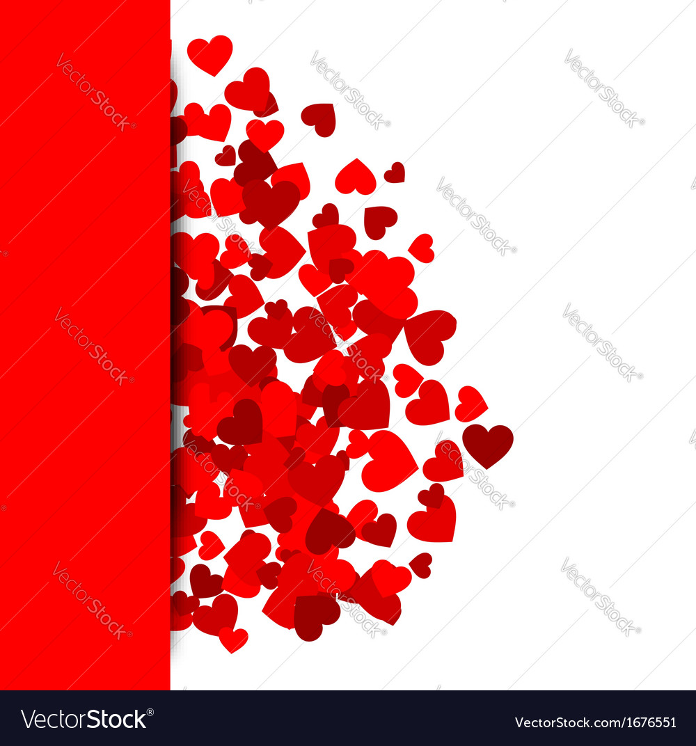 Background with red hearts vector   Price: 1 Credit (USD $1)