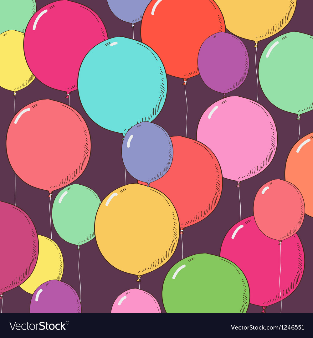 Balloon background vector | Price: 1 Credit (USD $1)