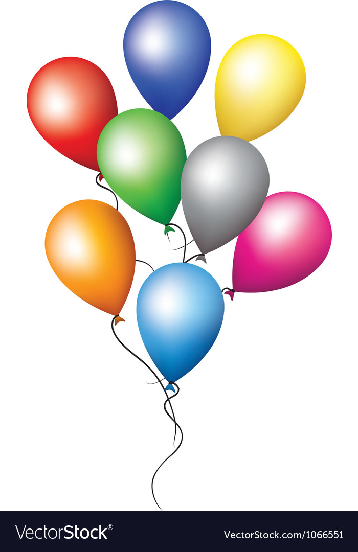 Balloons for holiday decoration vector | Price: 1 Credit (USD $1)