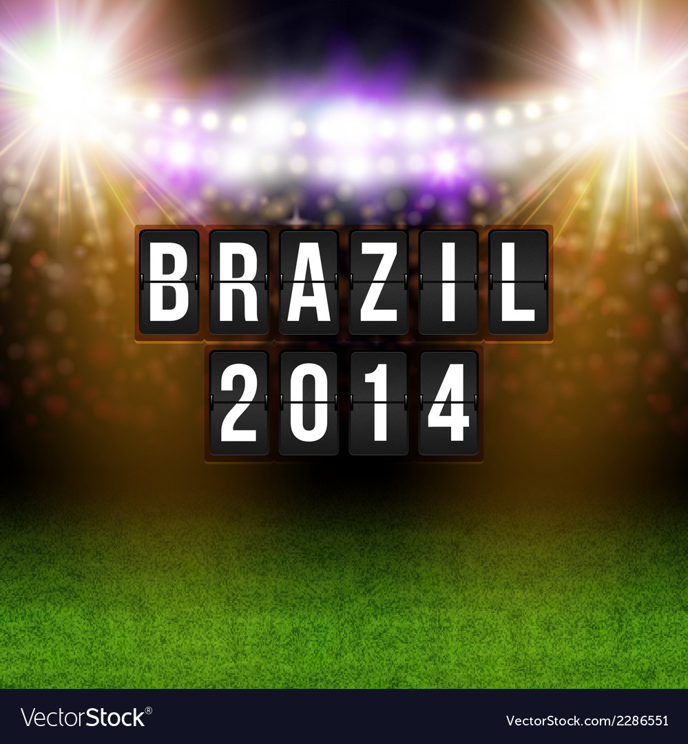 Brazil 2014 football poster stadium background and vector | Price: 1 Credit (USD $1)