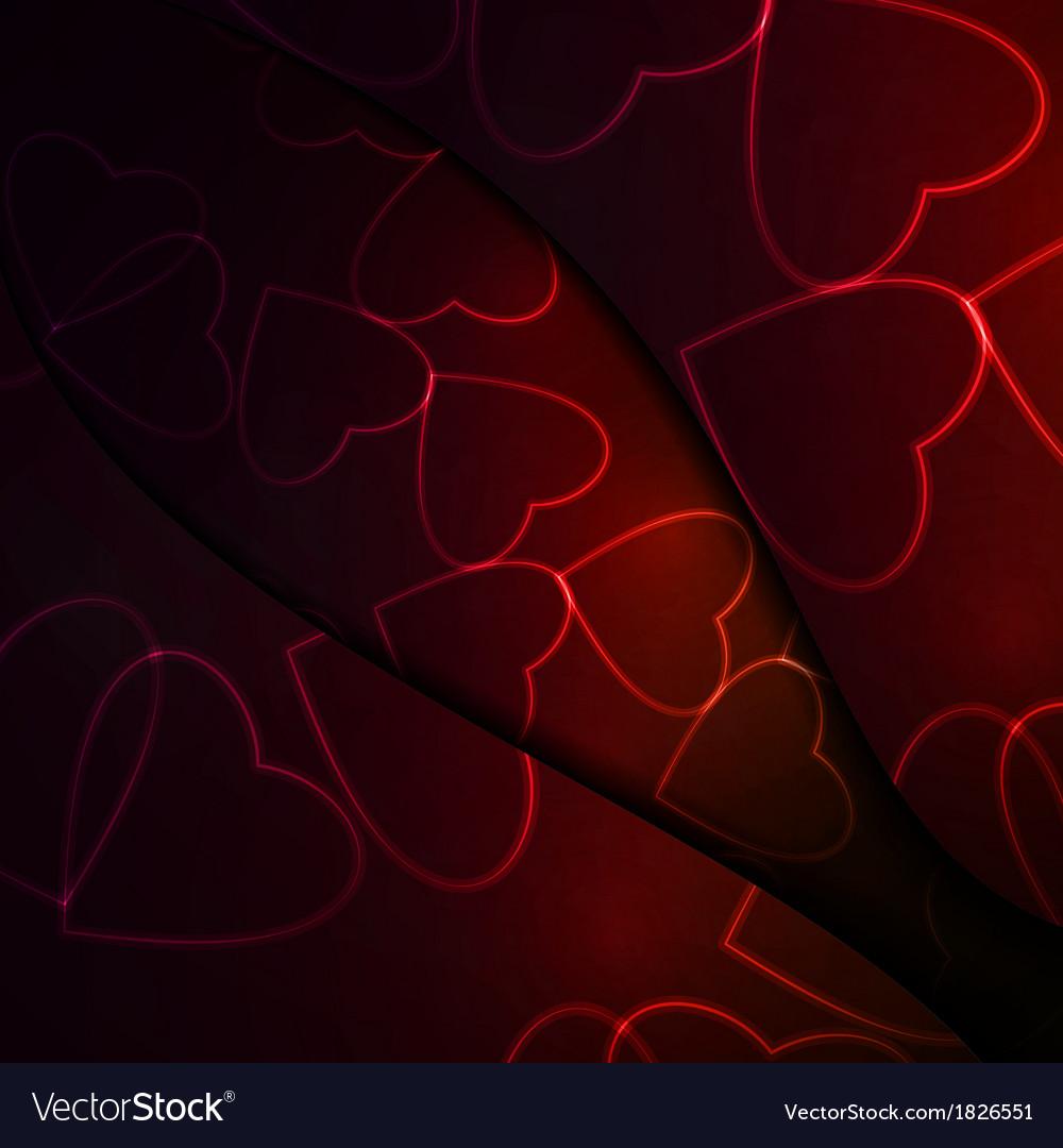 Neon hearts vector | Price: 1 Credit (USD $1)