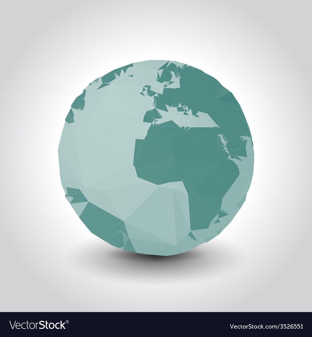 Polygon earth vector | Price: 1 Credit (USD $1)