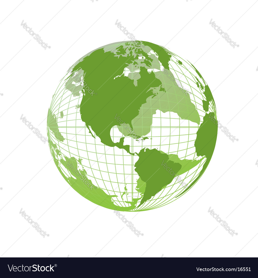 World map globe vector | Price: 1 Credit (USD $1)