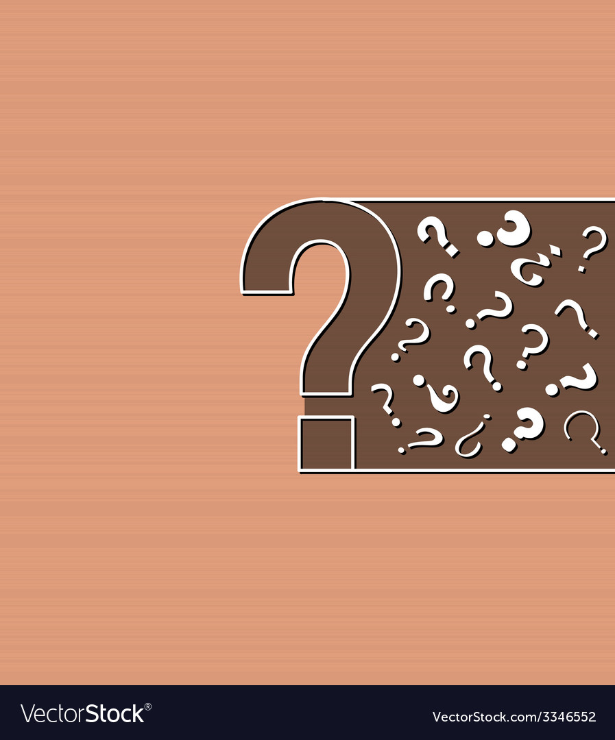 Background with question marks vector | Price: 1 Credit (USD $1)