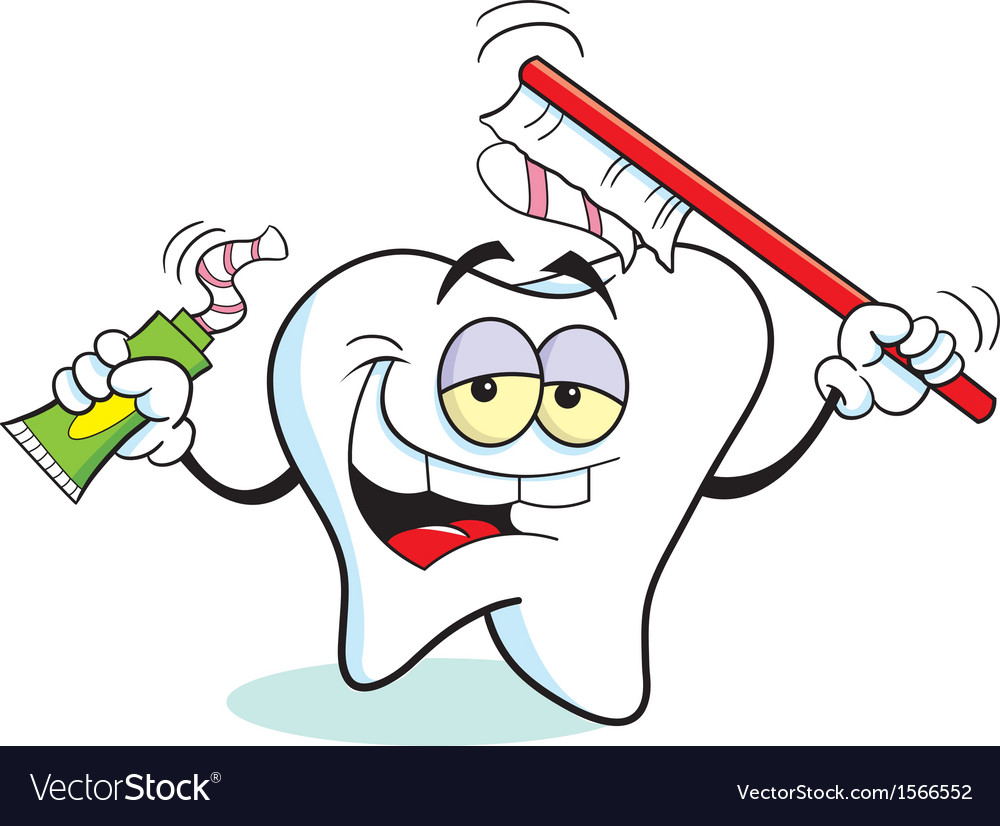Cartoon toothbrush tooth vector | Price: 1 Credit (USD $1)