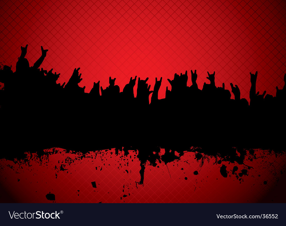 Concert crowd red vector | Price: 1 Credit (USD $1)