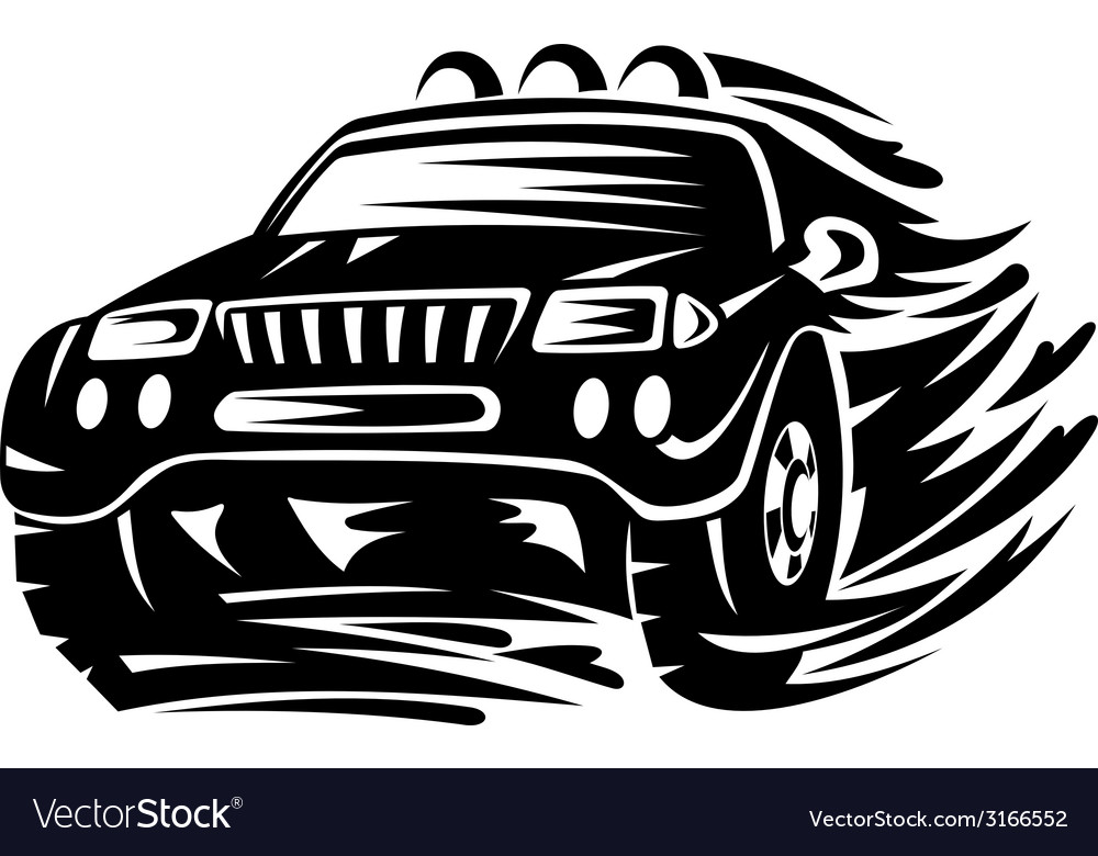 Crossover car vector | Price: 1 Credit (USD $1)