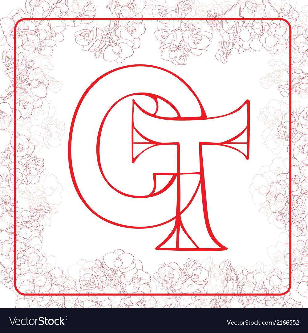 Ct monogram vector | Price: 1 Credit (USD $1)