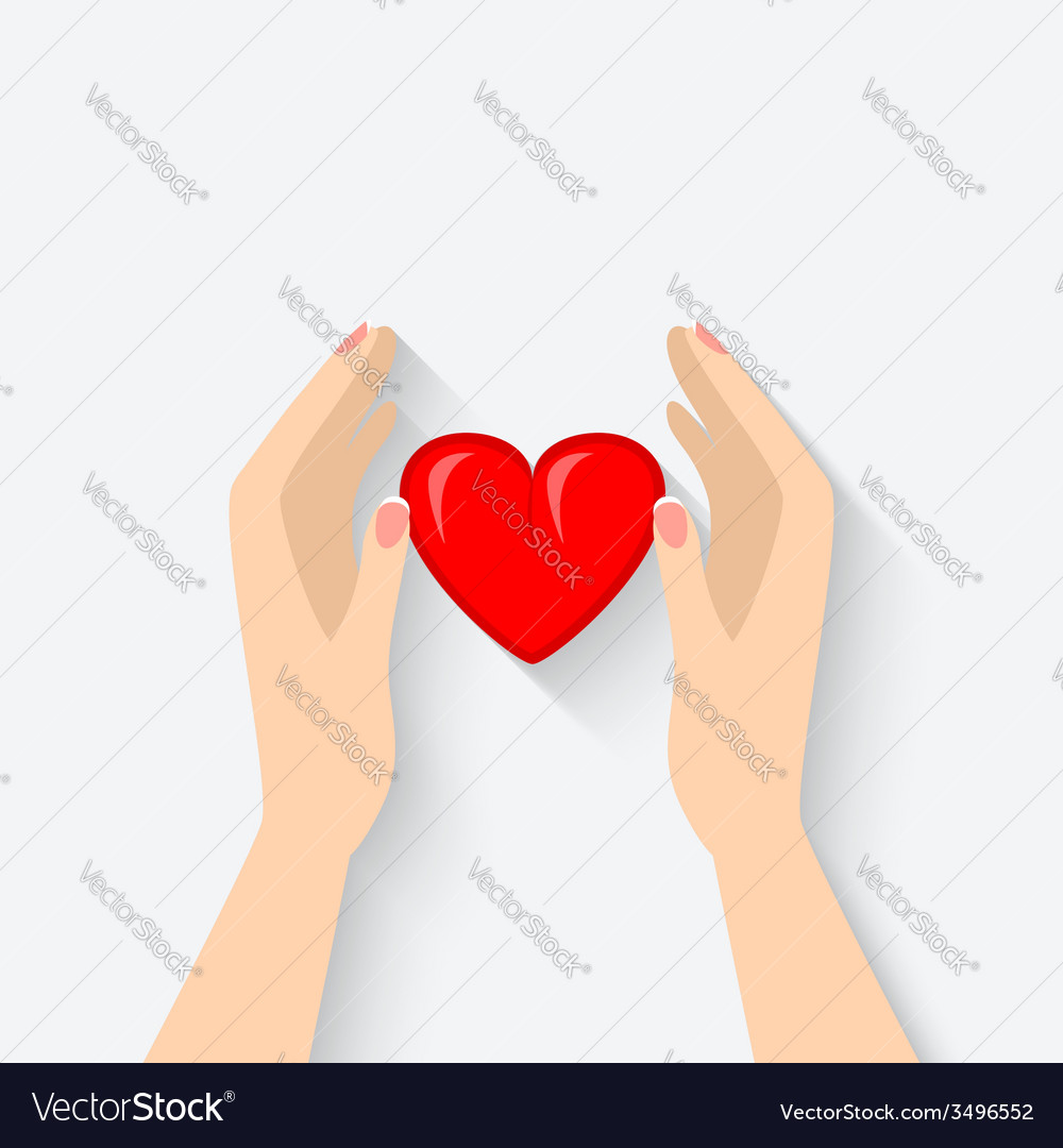 Heart in hands symbol vector | Price: 1 Credit (USD $1)