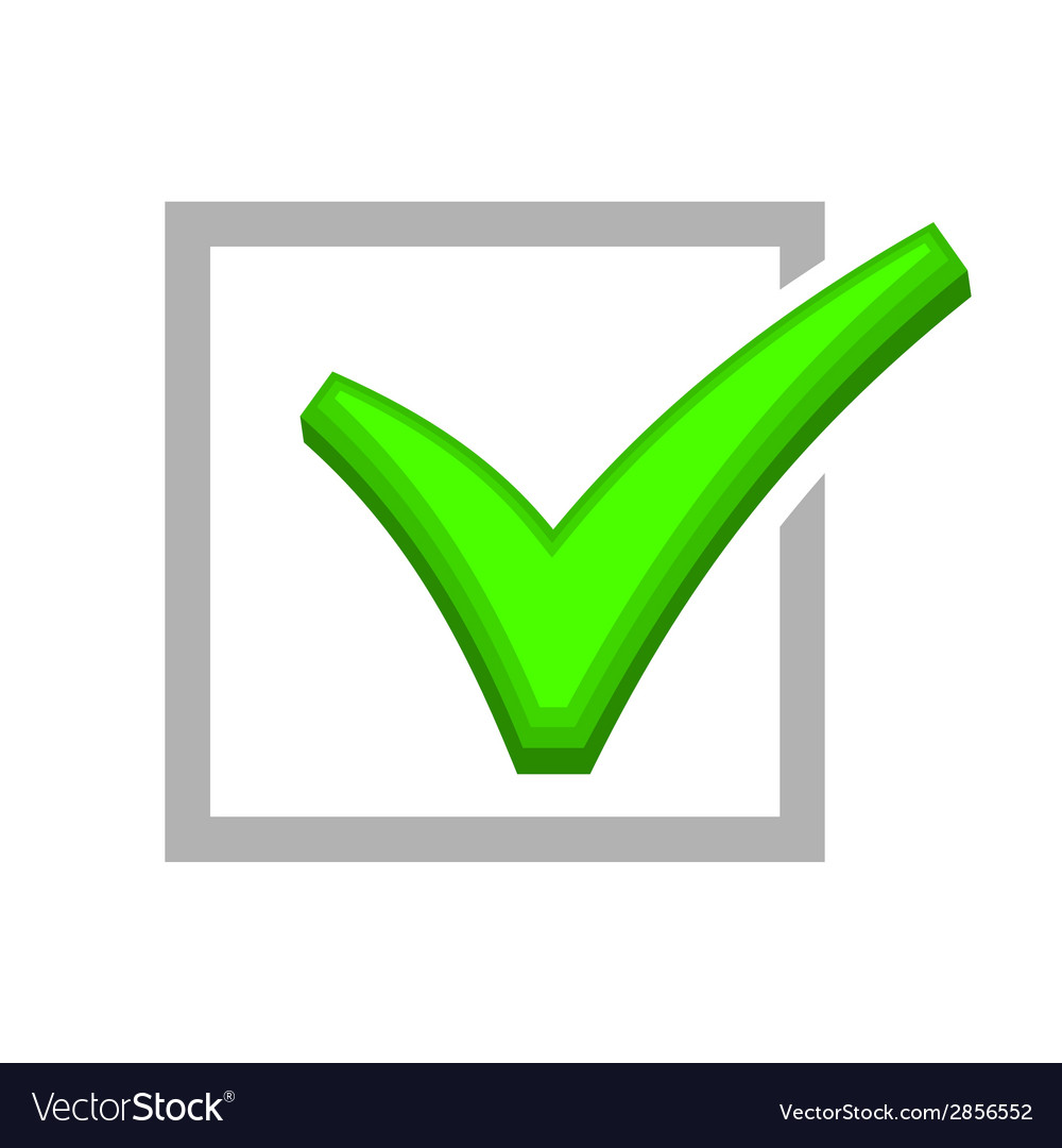 Image of box being checked by green check mark vector   Price: 1 Credit (USD $1)