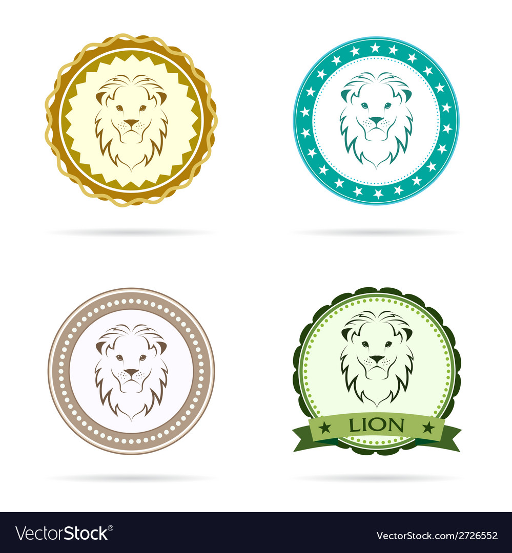 Lion label vector | Price: 1 Credit (USD $1)