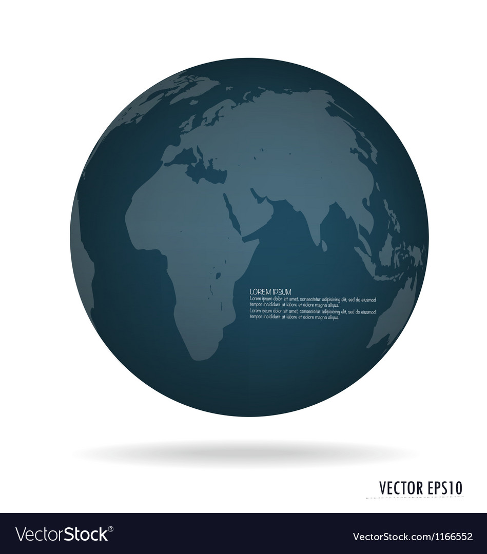 Modern blue globe vector | Price: 1 Credit (USD $1)