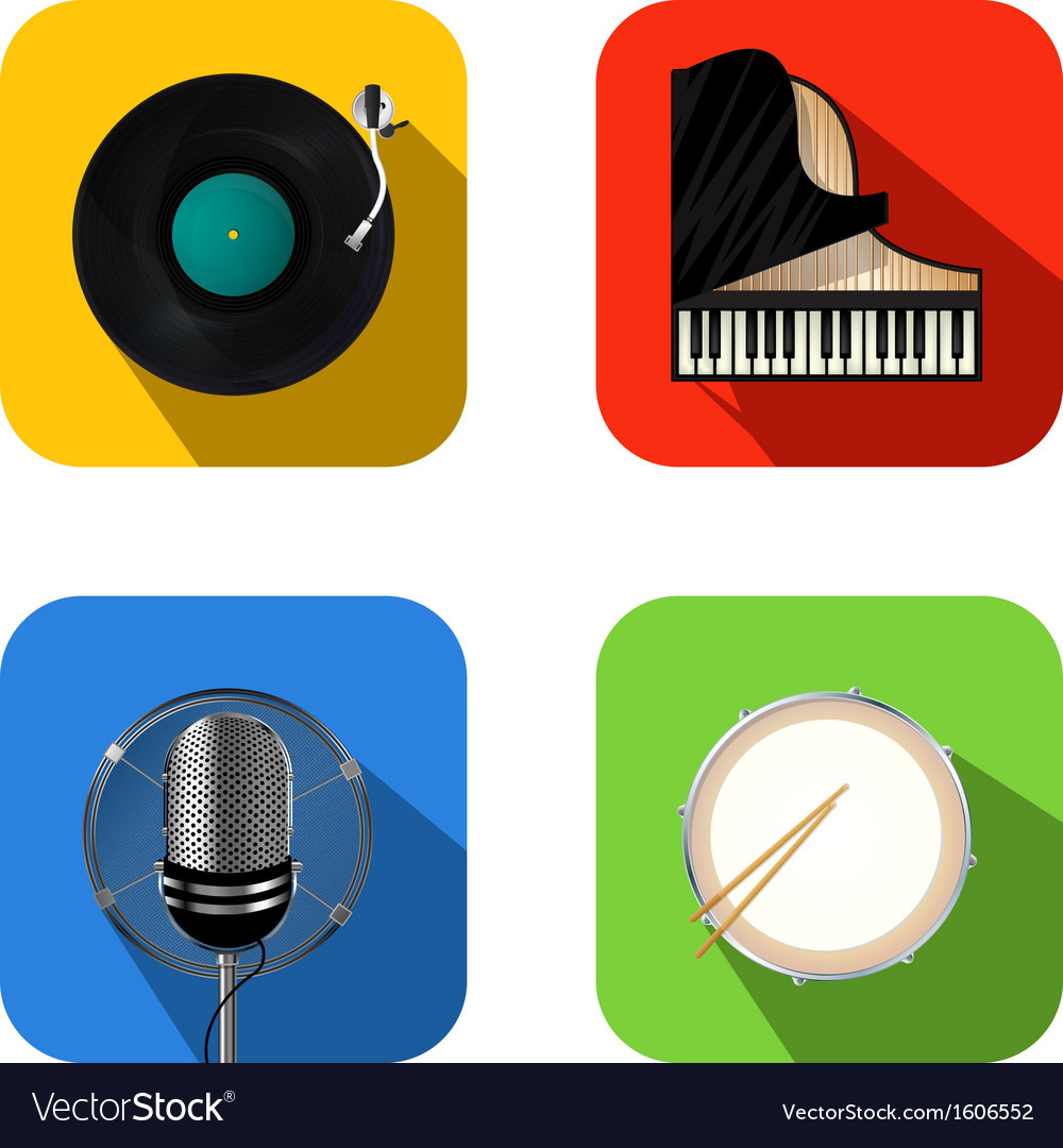Music and party icons vector | Price: 1 Credit (USD $1)