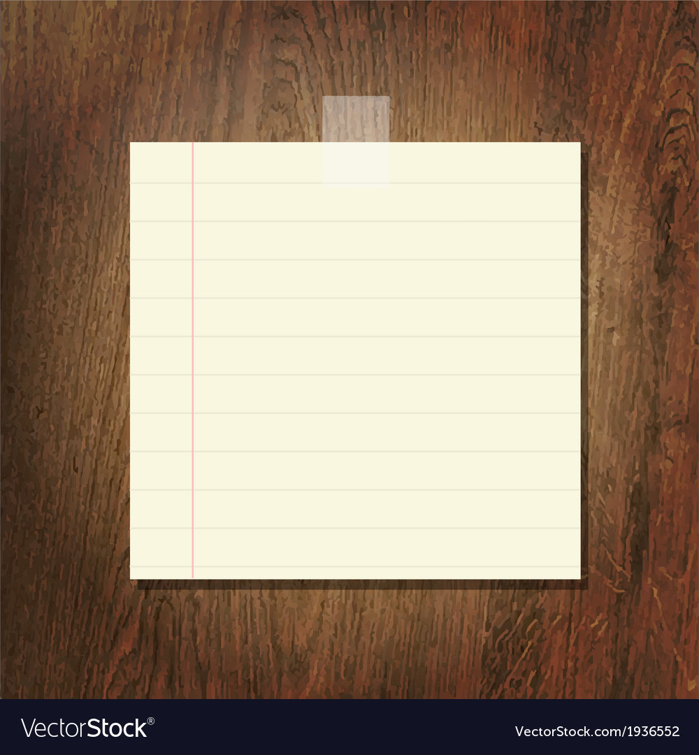 Note papers on wooden background vector | Price: 1 Credit (USD $1)