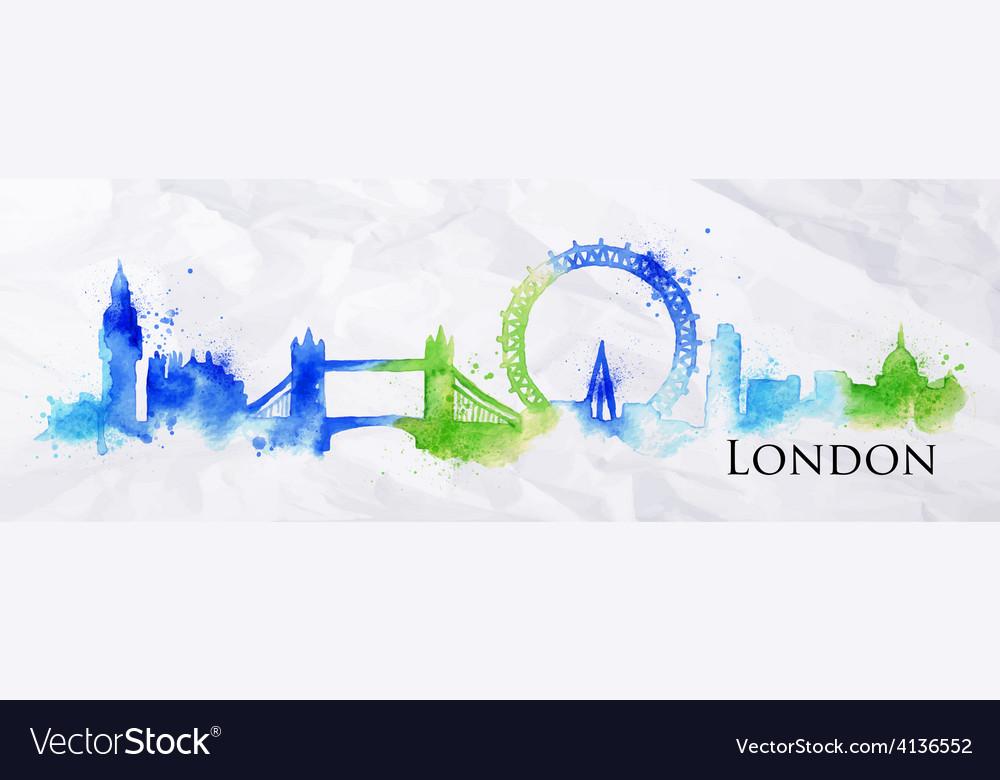 Silhouette watercolor london vector | Price: 1 Credit (USD $1)