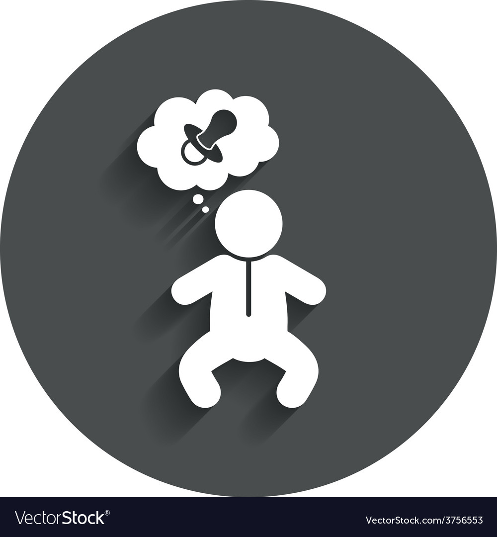 Baby infant sign icon toddler boy symbol vector | Price: 1 Credit (USD $1)