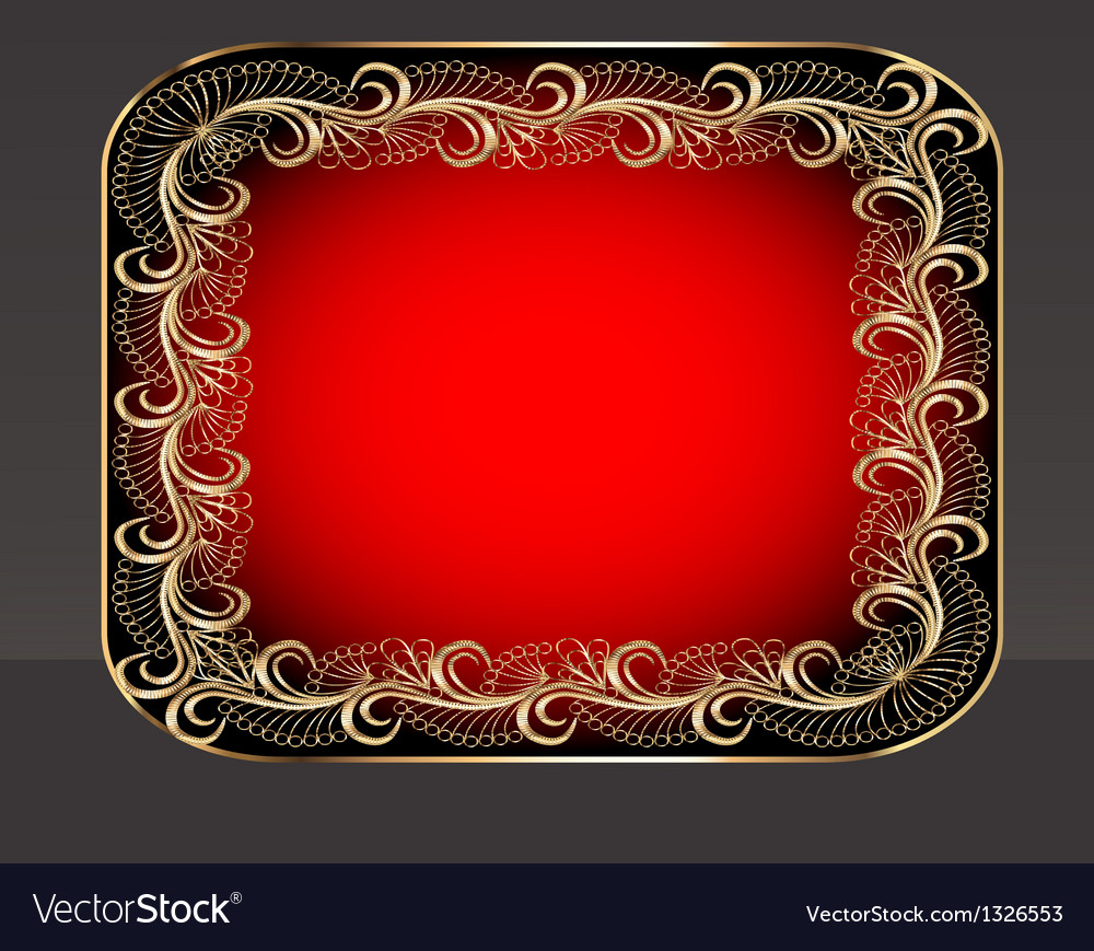 Background frame with vegetable golden pattern vector | Price: 1 Credit (USD $1)