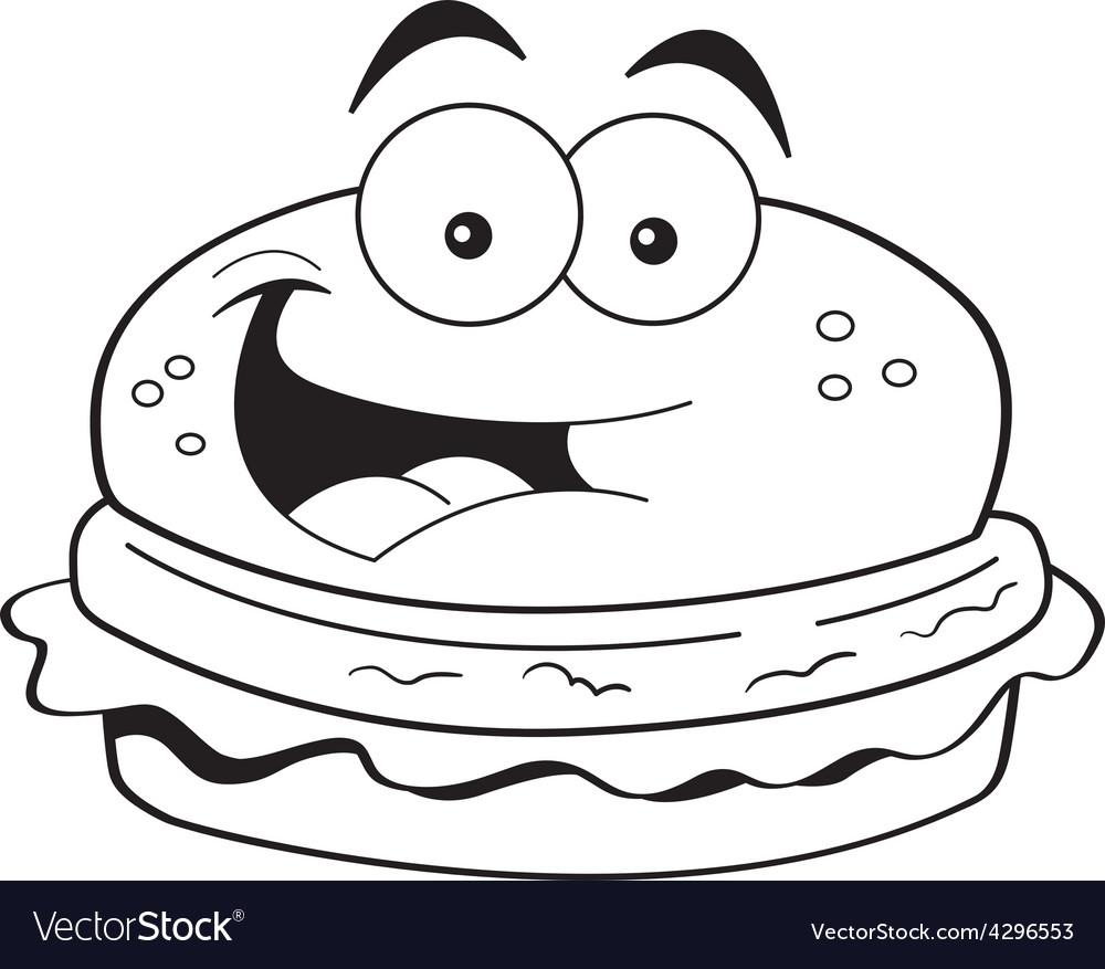 Cartoon hamburger vector | Price: 1 Credit (USD $1)