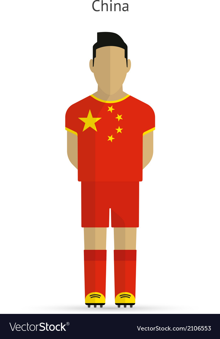 China football player soccer uniform vector | Price: 1 Credit (USD $1)