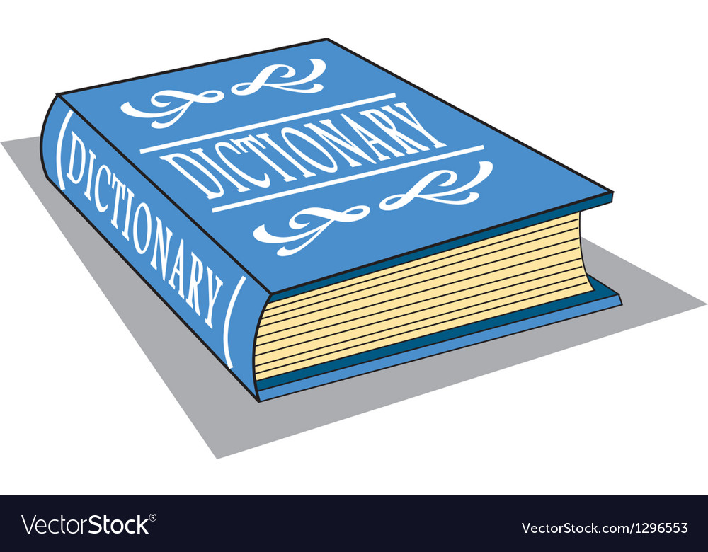 Dictionary vector | Price: 1 Credit (USD $1)