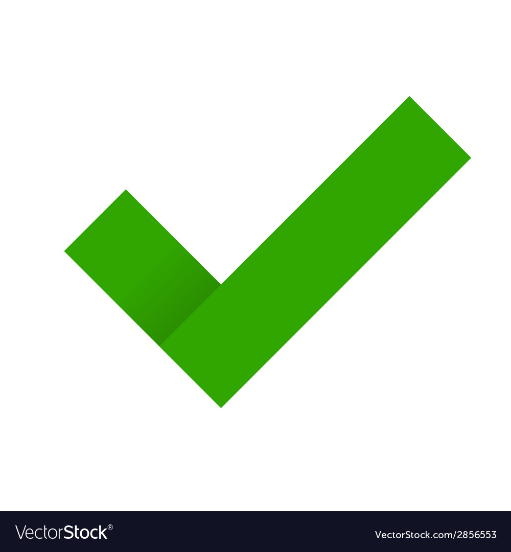 Green check mark vector | Price: 1 Credit (USD $1)
