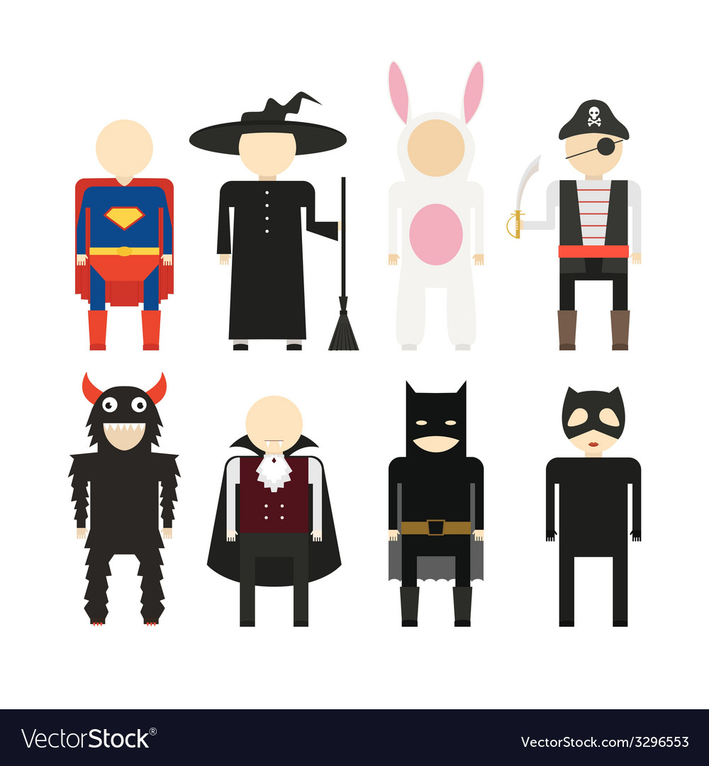 Halloween costumes vector | Price: 1 Credit (USD $1)