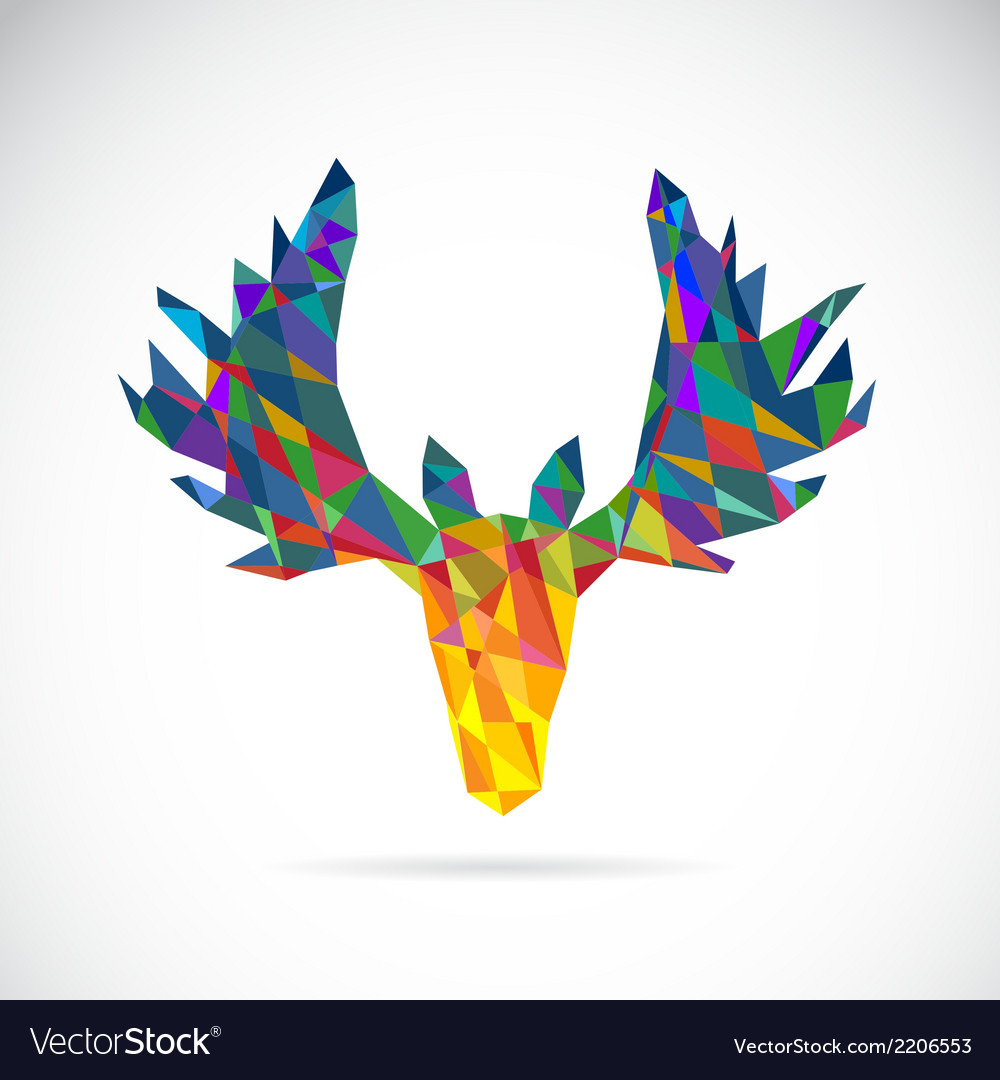 Image of an deer head design vector | Price: 1 Credit (USD $1)