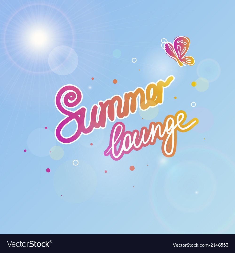 Summer sky vector | Price: 1 Credit (USD $1)