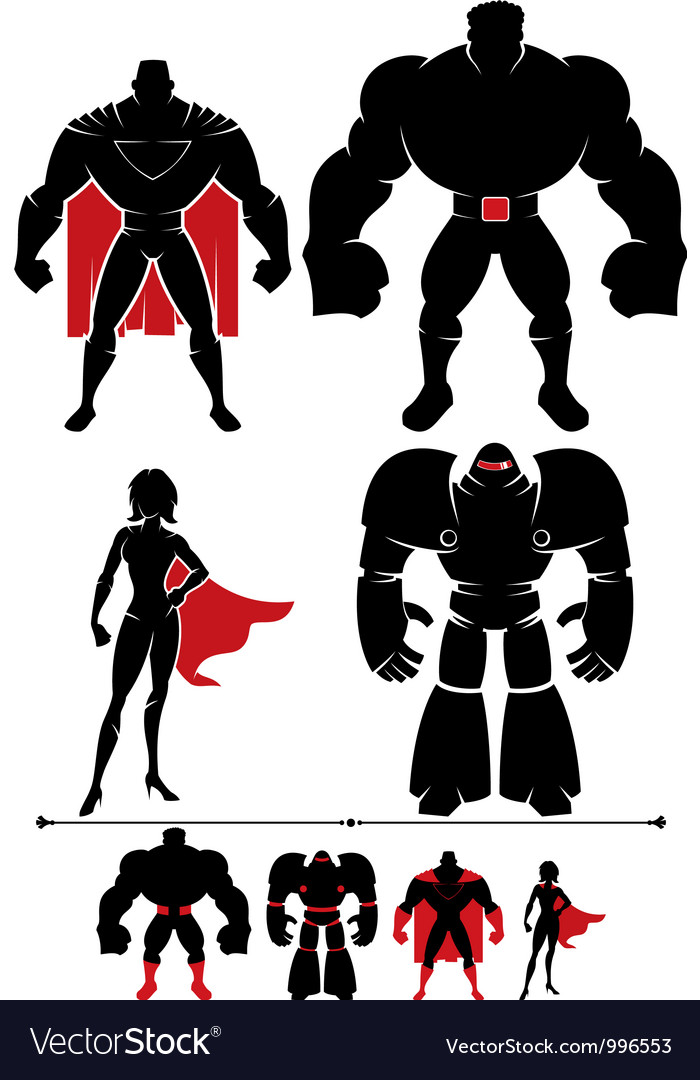 Superhero silhouette vector | Price: 1 Credit (USD $1)