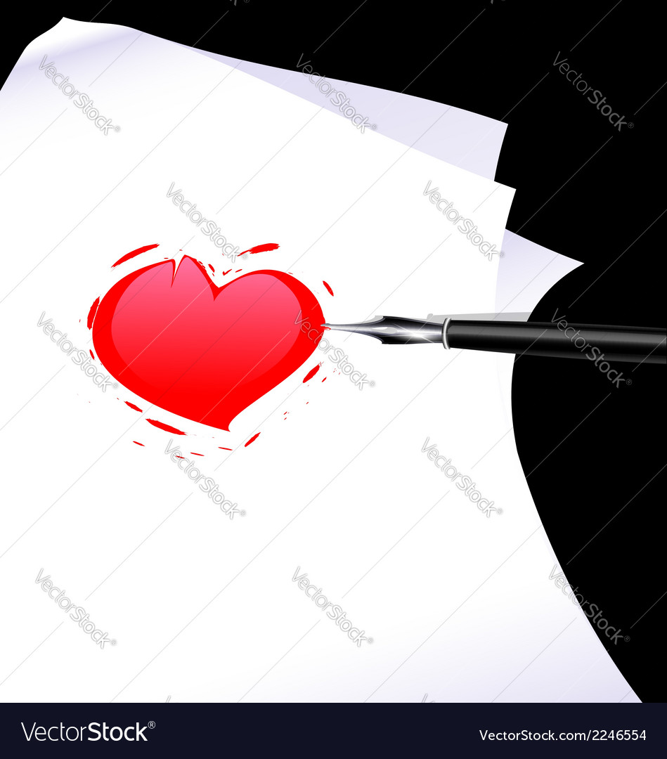 Abstract heart of a writer vector | Price: 1 Credit (USD $1)