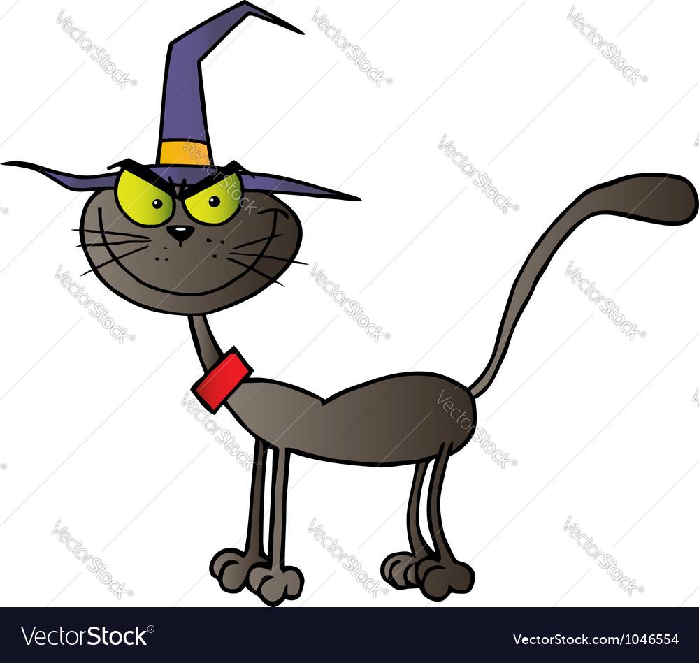 Black cat witch vector | Price: 1 Credit (USD $1)
