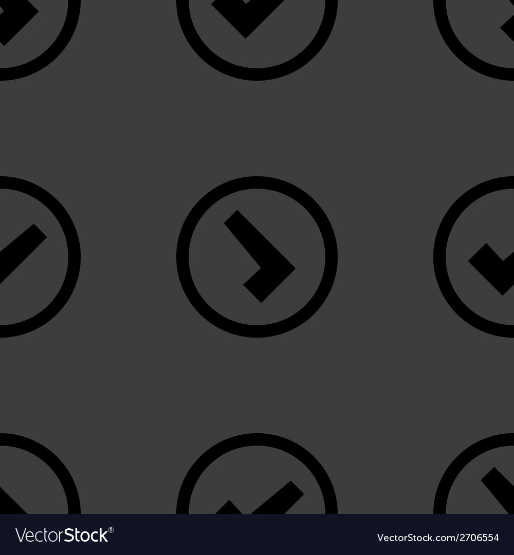 Check mark web icon flat design seamless pattern vector | Price: 1 Credit (USD $1)