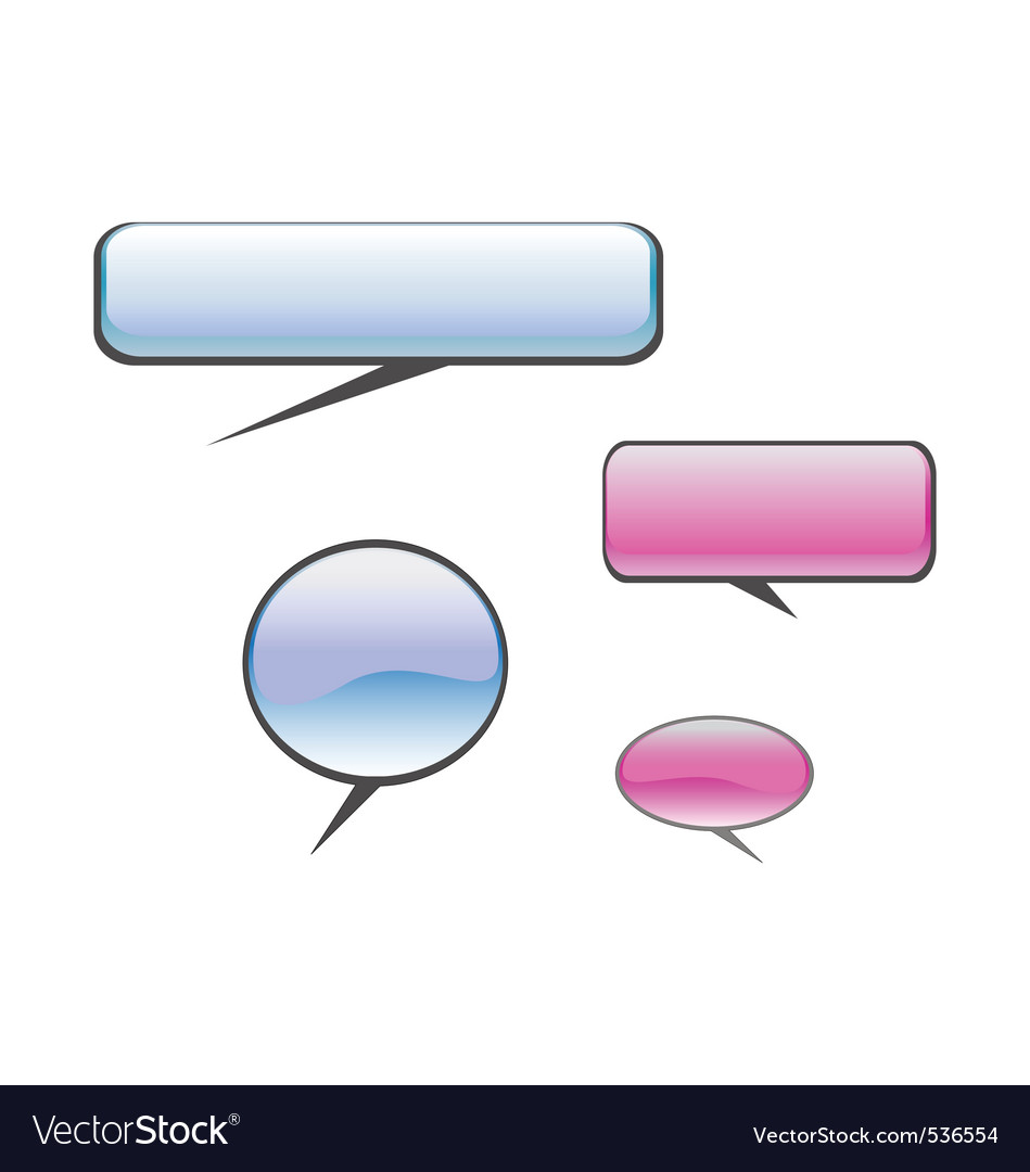 Color chat balloons vector | Price: 1 Credit (USD $1)
