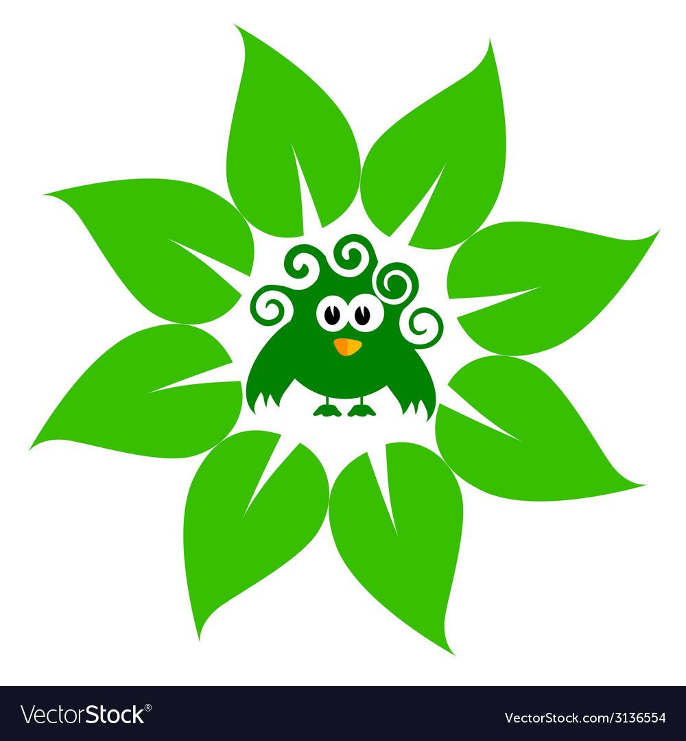 Eco bird green vector | Price: 1 Credit (USD $1)
