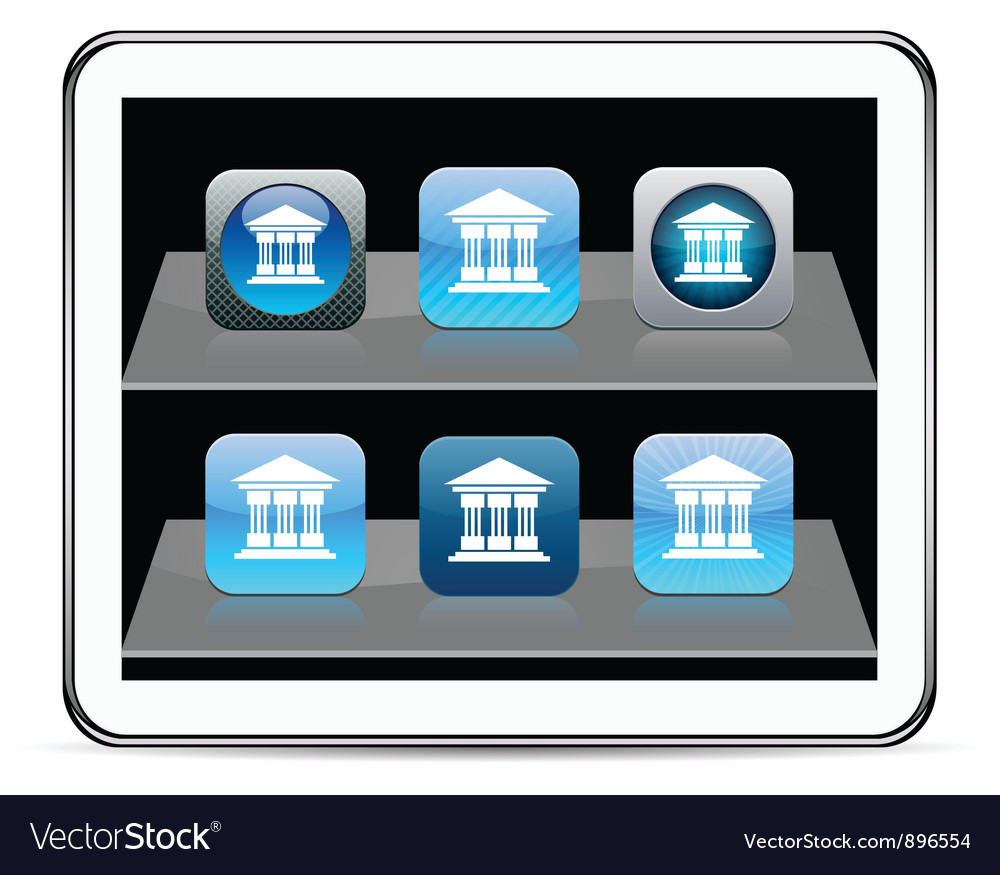 Exchange blue app icons vector | Price: 1 Credit (USD $1)
