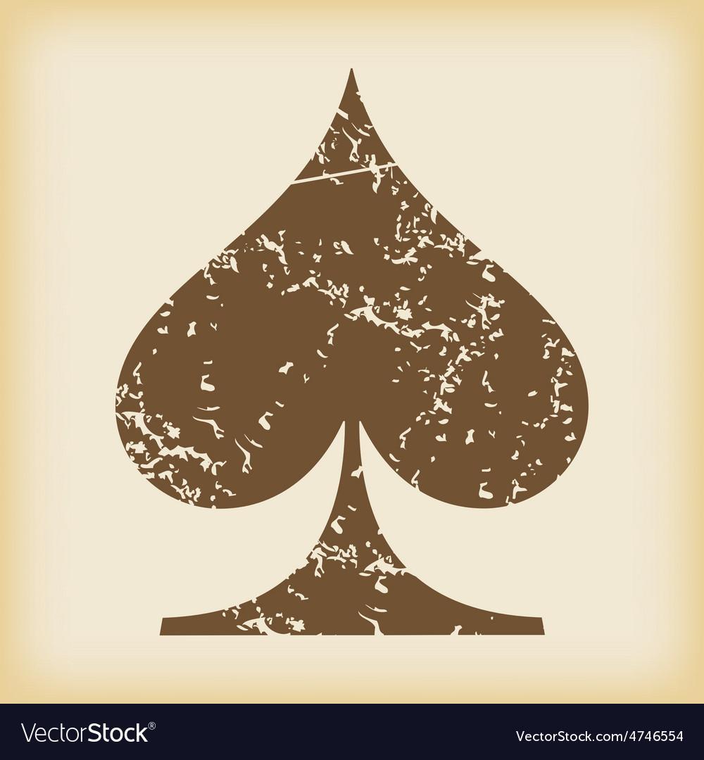 Grungy spades icon vector   Price: 1 Credit (USD $1)