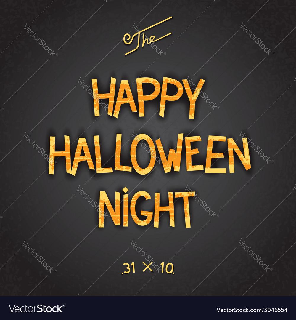 Happy halloween night poster vector | Price: 1 Credit (USD $1)