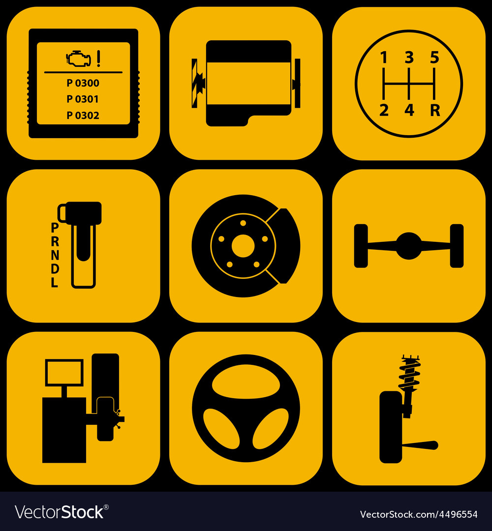 Set of automotive icons vector | Price: 1 Credit (USD $1)